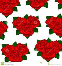 Behang Rode Rozen Op Een Witte Achtergrond Met Bladeren Vector