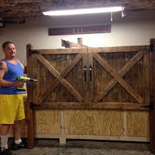 barn door headboard king size bed