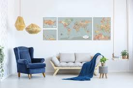 large world map wall art