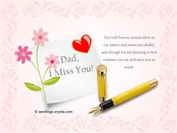 missing you messages for dad