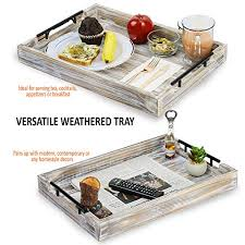tausi rustic wooden tray for ottoman
