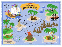 pirate pete s treasure map lg wall mural paint by numbers