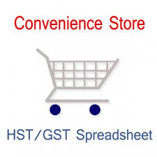 Canada Convenience Store Accounting And Sales Tax Spreadsheet Templates