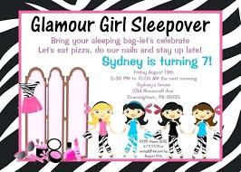 Free Printable Slumber Party Invitations Kadil