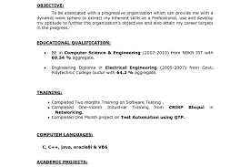 Objective In Resume For Software Engineer Fresher Career Objective In Resume For Experiencede Developer Engineer 84