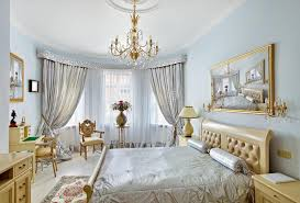 Marvelous Download Classic Style Luxury Bedroom Interior In Blue Stock Image   Image  Of Blue, Bedroom