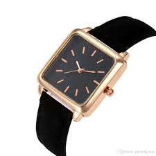 new simple square small dial thin women las leather watch fashion las female dress quartz casual leisure wrist watches digital watches gold watch from