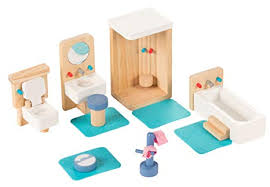 Kids dollhouse furniture Wooden Doll Juvale Bathroom Dollhouse Furniture Set 14piece Kids Wooden Doll House Accessories Pretend Amazoncom Amazoncom Juvale Bathroom Dollhouse Furniture Set 14piece Kids