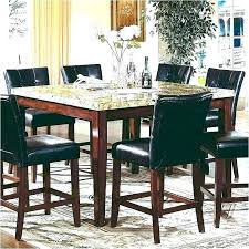 granite dining table 8 chairs set marble top high counter height brilliant kitchen round with