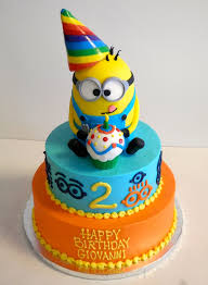 2 Year Old Birthday Cake Despicableme Minions Boys Birthday