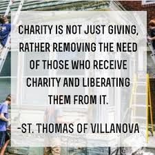 """Senior Class Gift on Twitter: """"Charity is not just giving... - St. Thomas  of Villanova We are counting down to @stvdayofservice #quote #stvc15  http://t.co/NPrMCivgou"""" / Twitter"""