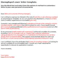 Unemployed Cover Letter Simple Depiction Meowings