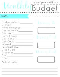 Family Budget Template Free Operating Budget Template Free Printable Monthly Household