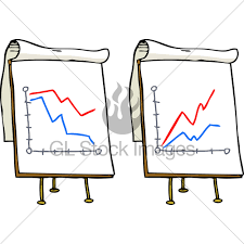 Doodle Growth Chart Gl Stock Images