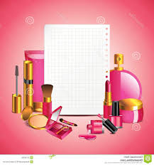 vector mac makeup royalty free stock images cosmetics blank paper background sheet pink image
