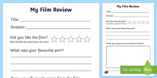How To Write A Movie Review Film Review Writing Frame Film Review Film Review
