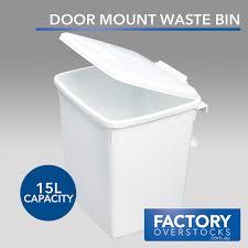 Kitchen Waste Bin Door Mounted 15l Door Mount Waste Bin Swing Out Kitchen Rubbish Garbage Ebay