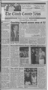The Clinch County News October 29, 2003: Page 1