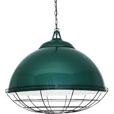 brussels large industrial style racing green metal factory pendant light