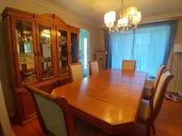 Best Dining Room Table Chairs And Hutch For Sale In Dollard Des