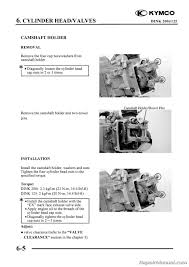 kymco yager dink 125cc 200cc scooter printed repair manual manual page 3 kymco yager dink 125 200 repair manual page 2