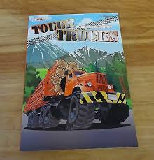 Truck Log Book For Sale Tough Trucks Coloring Activity Book Ages 3 Big Rigs Tractor Trailers