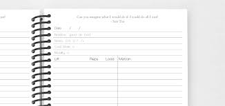 Create The Perfect Fitness Journal Training Log Or Personalized