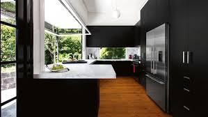 Granite Kitchen Benchtop Kitchen Attractive Black Kitchen Cabinet Design Ideas With Grey