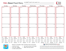 Template Blank Food Diary Template Journal For Weight Loss Picture