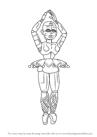 how to draw ballora from five nights at freddy s