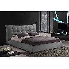 Baxton Studio Marguerite Linen King Modern Platform Bed with