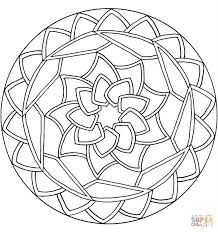 Small Picture Celtic Knot Mandala with Flower coloring page Free Printable