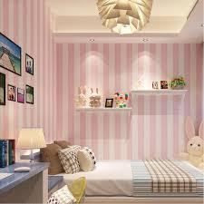 Großhandel Koreanische Art Rosa Kinderzimmer Schlafzimmer Tapete Für  Kinderzimmer Moderne Vertikale Striped Vliestapete Wohnzimmer Decor Von  Hotseller1, ...
