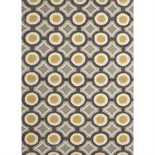 picture of jaipur brio hand tufted geometric pattern polyester gray yellow rug br31
