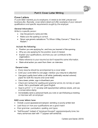 Part Ii Cover Letter Writing Cover Letters