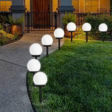 18 solar powered garden lights to