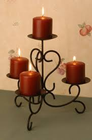 types of wrought iron candle holders  in decors