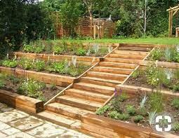 side hill garden sloped backyard
