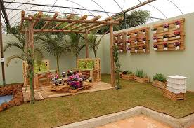 garden decoration made from recycled wood