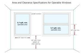 Egress Window Size Chart Standard Window Size Chart Home Depot Invisurf Info