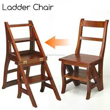 step ladder chair solid wood folding step stool chair library step chair oak