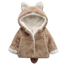 baby girls winter jackets warm faux fur fleece coat winter baby kid girls cute bunny fleece