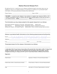 Medical Records Request Forms Preview PDF Texas Medical Records Release Form 24 24 8
