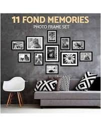 11 pcs jeteven multi diy wall hanging photo frame set picture display modern photograph home wall  on black white framed wall art with slash prices on 11 pcs jeteven multi diy wall hanging photo frame