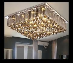 beautiful square flush mount crystal chandelier new arrival led crystal ceiling lamp modern square and round