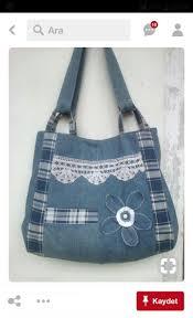 Denim <b>tote bags</b>, Jean purses, Denim handbags