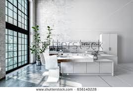 compact office kitchen modern kitchen. Compact Modern White Openplan Kitchen Interior Stock Illustration 656140228 - Shutterstock Office O