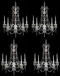 an extremely rare set of four english early victorian wall lights of exceptional