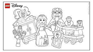 Kleurplezier Met Belle En Het Beest Kleurplaten Lego Disney
