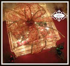 Glass Present Box Lights Diy Glass Block And Bow